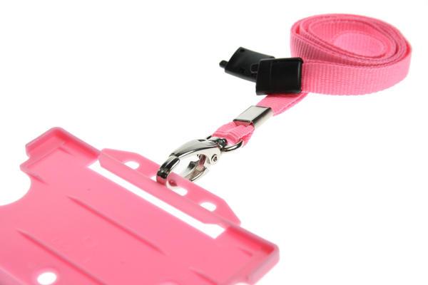 Pink Lanyard ID Card Holder